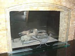 fireplace glass fireplace screen making glass screen