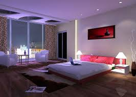 Splendid Big Bedroom With Fantastic Led Lights Decor And Lovable Ideas  White Shade Lamp Design By