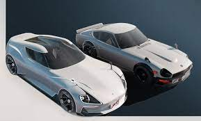 Nissan Readying New Z Sports Car Possibly Named The 400z With 240z Styling Influences Carscoops Nissan Datsun Sports Car