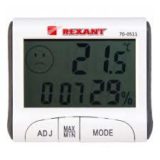Термогигрометр <b>REXANT</b> 70-0511 комнатный с часами и ...