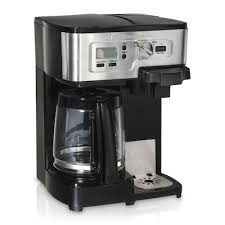 Pour your first cup before the brewing process is done, without compromising taste or creating a mess, with the auto pause and serve feature. Hamilton Beach Black Coffee Makers At Lowes Com