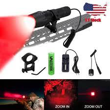 Hog Light Details About Led Tactical Flashlight Zoomable Hunting Torch Varmint Hog Light Battery Mount K