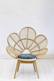Furniture: Fan Shaped Brown Unusual Chairs - Iconic Chairs
