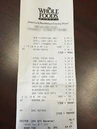 Show Us Your Grocery Receipts Part Nine Whole Foods The Billfold