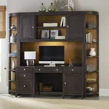 corner furniture piece. Hooker Furniture South Park Executive Computer Desk With Optional Hutch \u0026 Corner Bookcases - Honey Maple | Hayneedle Piece Z