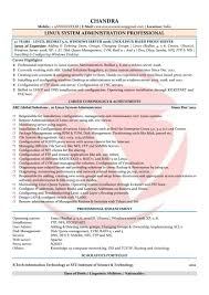 Systems Administrator Sample Resume Alluring Network Admin Resume Samples For Linux System Administrator 19