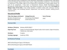 cognos developer resume resume sample developer resume template cognos  developer resume india