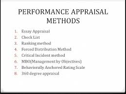 performance appraisal systems ppt video online 6 performance appraisal methods