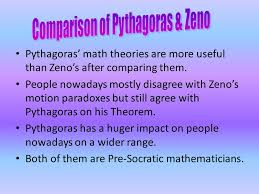 mathematicians pythagoras and zeno comparison of their  comparison of pythagoras zeno