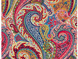 decor linen fabric multiuse: paisley linen fabric modern paisley upholstery fabric by the yard pink blue