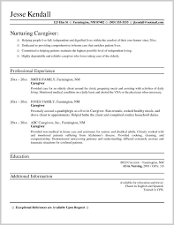 Caregiver Resume Samples Free 212625 Special Needs Caregiver Sample