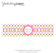 Water Bottles Templates Free Water Bottle Template Baby Shower Labels For Label