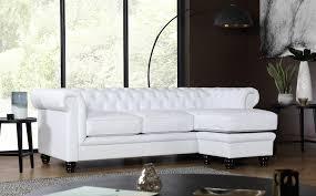 gallery hampton chesterfield white leather corner sofa