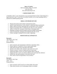 Resume Sample Server Server Resume Example Awesome Server Bartender