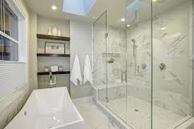 custom marble shower in milwaukee home