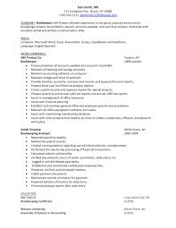 bookkeeper - Resumes For Bookkeepers