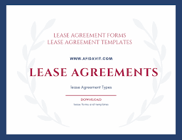 Lease Agreement Format Lease Agreement Lease Agreement Forms Lease Agreement