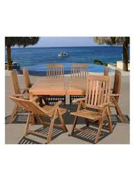 teak outdoor dining sets sale. international home amazonia teak eiffel square dining set (9 pc) from outdoor furniture sets sale