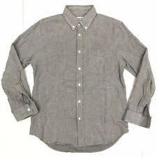steven alan mens small gray check on down l s soft flannel cal shirt