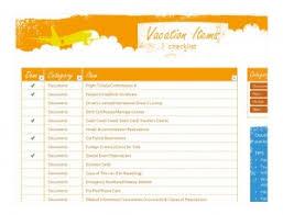 Vacation Travel Checklist Vacation Checklist Printable