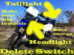 make your bike invisible drz headlight delete switch make your bike invisible drz 400 headlight delete switch