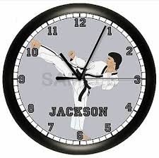 martial arts wall clock personalized
