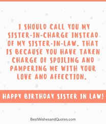 Beautiful Birthday Quotes For Sister In Law Best Of Happy Birthday Sister In Law 24 Unique And Special Birthday Messages