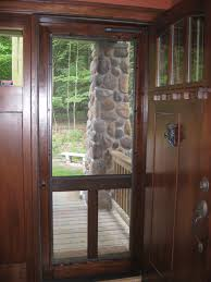 charming ideas wood storm doors with glass panels screen storm options for your new vintage door
