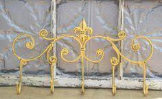 Fleur De Lis Coat Rack Fleur de Lis Coat Rack French Country key hook rack Metal Wall 74