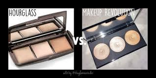 hourglass ambient light palette dupe makeup revolution radiance palette