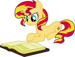 635262 absurd res artist elsia pony book pony reading safe simple background solo sunset shimmer svg transpa background unicorn