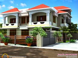 double pitched roof house plans fresh double storied modern sloped roof home kerala home design and
