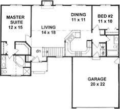 Style House Plans  1218 Square Foot Home  1 Story 2 Bedroom And Floor Plans With Garage