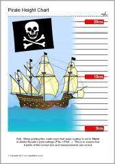 Sparklebox Height Chart Sb9371 Pirate Themed Childrens Height Chart Pirates