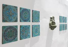>ceramic wall decor modern 12 tiles garden with ethnic designs art  ceramic wall decor modern 12 tiles garden with ethnic designs art pertaining to 13