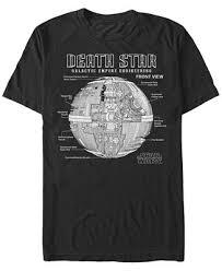 Men's Classic Death <b>Star</b> Galactic Engineering Short Sleeve <b>T</b>-<b>Shirt</b>