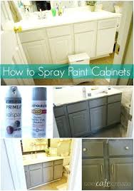 cabinet spray paint how to spray paint cabinets bathroom makeover learn how to spray paint cabinets