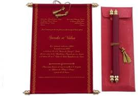 Scroll Wedding Invite Scroll Wedding Invitations At Rs 68 Piece S Andheri West