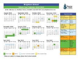 Year To Year Calendar School Year Calendar Brighton School Mountlake Terrace Wa