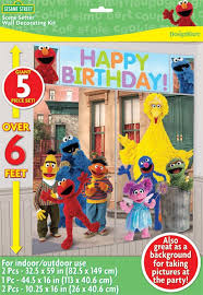 Sesame Street Bedroom Decorations Amazoncom Sesame Street Scene Setter Kit Toys Games