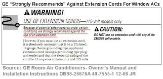 extension cord for ac unit. Exellent For 2 Typically When I See A Window Or Portable AC With An Extension Cord  The Cord Is Plugged Into Circuit Supplying Power To Other Loads In That Case NEC  With Extension Cord For Ac Unit A