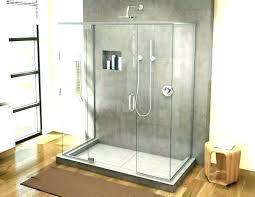 tile shower floor pan kit installation install a ceramic fiberglass vs bathrooms astonishing pans fi