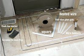 how to install a heated tile floor and also not intended for design 13