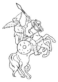 Kleurplaat Ridder Op Paard Juf Marije Kleuters En Digibord