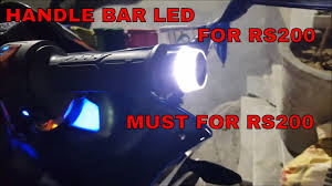 Bar End Lights For Pulsar End Bar Light Handle Bar Led Light Turn Signal Indicators Best For Rs200 Must For Rs200