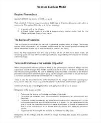Business Model Proposal Template Business Service Proposal Template