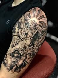 Sculpture Tattoo San Miguel Arcangel Tattoo Bae Pinterest Lorenzo