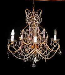 marie antoinette style crystal glass chandelier italy early 20th century