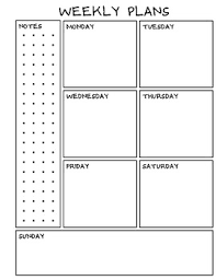 Monthly And Weekly Planners Weekly Planner And Monthly Sheets