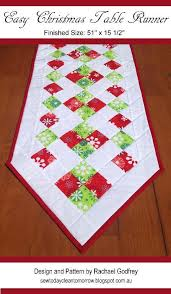 """Free Christmas Table Top Patterns – BOMquilts.com & """"Easy Christmas Table Runner"""" designed by Rachael Godfrey from Sew Today,  Clean Tomorrow · """" Adamdwight.com"""